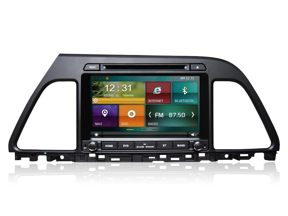 Cartouch(R) CAR DVD player for HYUNDAI SONATA 2015 with navigation GPS Bluetooth radio TV iPod 3G/Wifi usb Free map(China (Mainland))