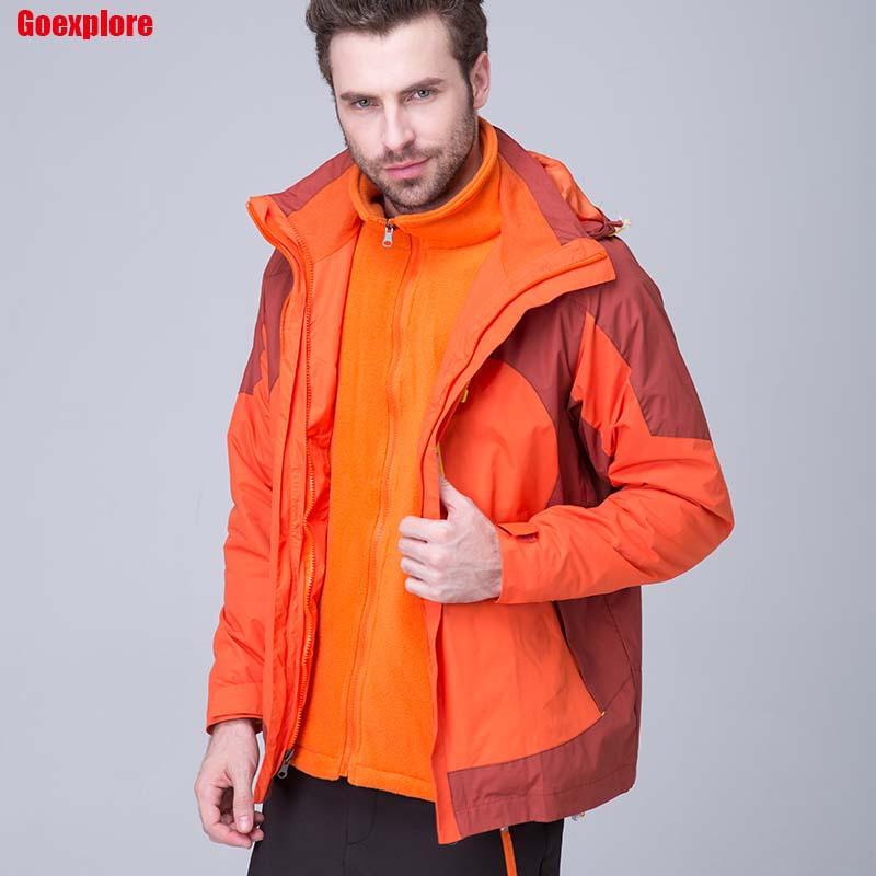 Winter jackets thermal thicken jacket Outdoor Sports ski jackets camping coat Waterproof Windproof climbing jacket man