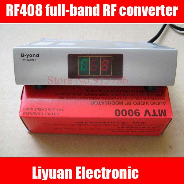 RF408 full range of RF converters / agile frequency modulator / AV to RF Audio and video converter(China (Mainland))