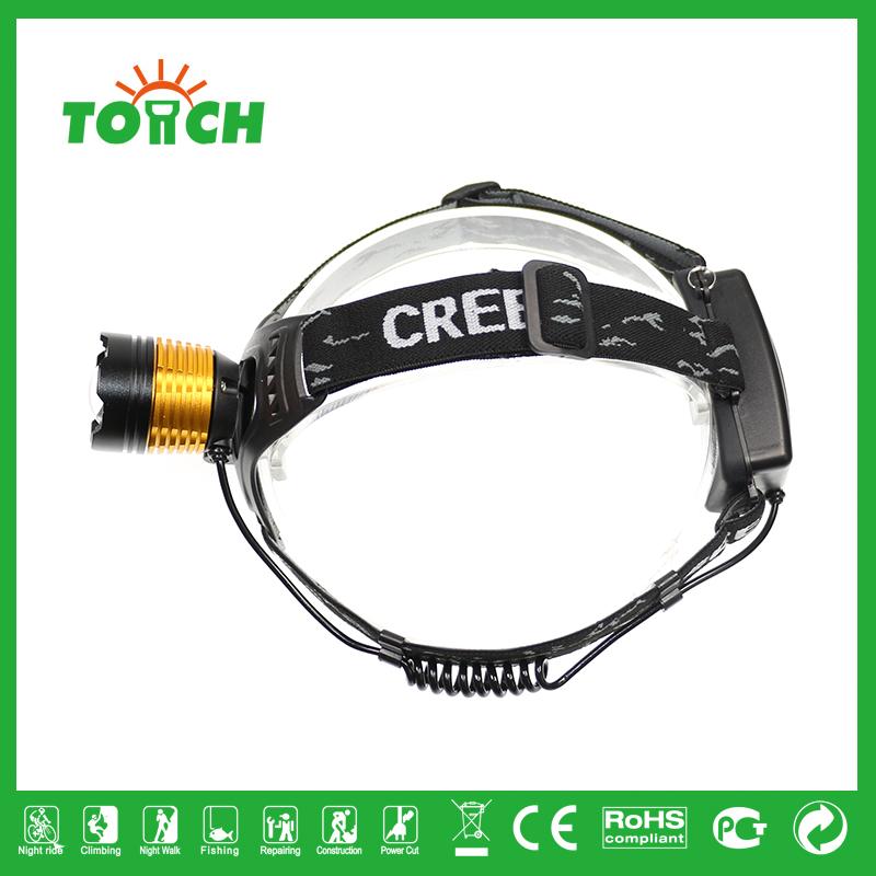Zoomable 1800 LM CREE XM-L XML T6 LED 18650 Headlight Headlamp Flashlight Head Light Lamp 7021(China (Mainland))