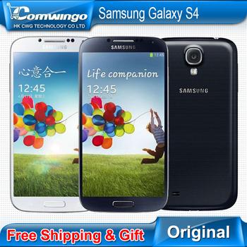 Телефон Samsung, разблокированный Galaxy S4 SIIII i9500 16 гб / 32 гб ROM четвёрка - ядро 13MP камера четырёхъядерный NFC GPS отремонтированный
