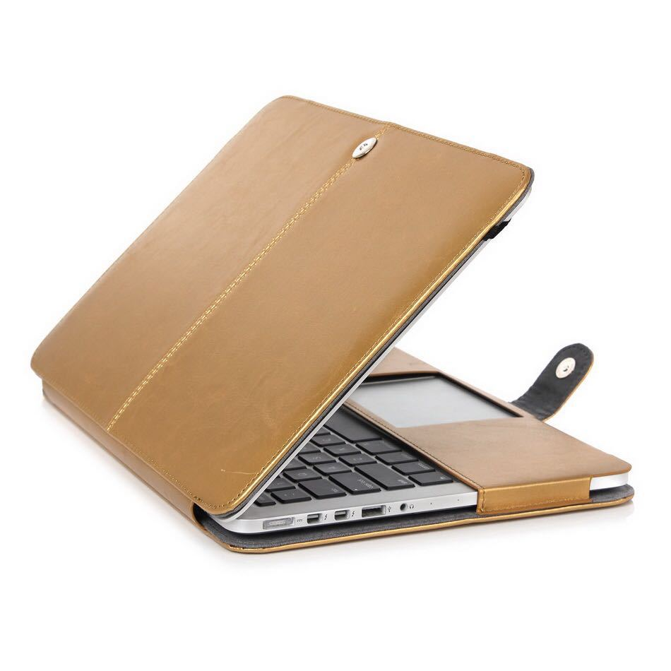 Leather case cover bag for apple macbook pro 15 with for Housse ordinateur 14 pouces originale