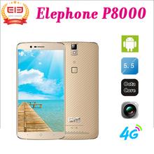 "5.5"" inch Elephone P8000 Smart Mobile Phone MTK6753 Octa Core 4G LTE Android 5.1 CellPhone 3GB RAM 16 GB ROM 13mp Fingerprint ID(China (Mainland))"