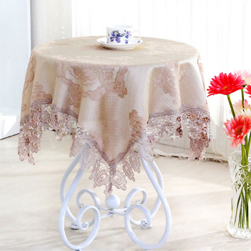 Round Table Cover Home Decoration Damask Lace Polyester Rustic Vintage Jacquard Floral Embroidered Tablecloth Refrigerator Cloth(China (Mainland))
