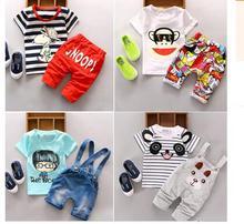 Baby-Kleidung 2016 Sommer Stil Panda Kleinkind Jungen Kleidung Sets Kinder Kleidung Kinder Jungen Hosen + Shirt Sets Baby Trainingsanzug(China (Mainland))
