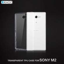 Transparent Soft TPU Silicon 4.8for Sony Xperia M2 Xperia M2 Aqua Case For Sony Xperia M2 Mobile Phone back Cover Case
