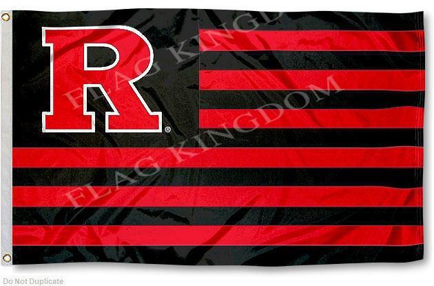 Rutgers Scarlet Knights Stars and Stripes Nation Flag(China (Mainland))