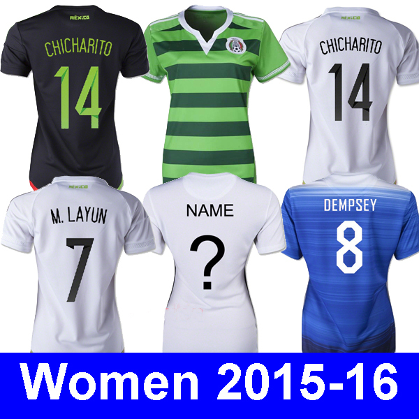 CHICHARITO AAA 2015 g.dos 15 16 2015 2016 Mexico women jersey chicharito dempsey women jersey 2015 15 16 yedlin 15 16 2016 nwt 2015 usa soccer jersey