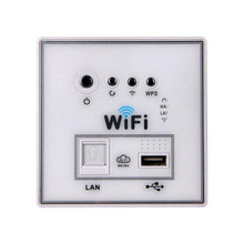 Type 86 Routers 300M wireless AP wifi panel wall type wireless AP hotel voltage 220 v intelligent repeater through-wall 300Mbps(China (Mainland))