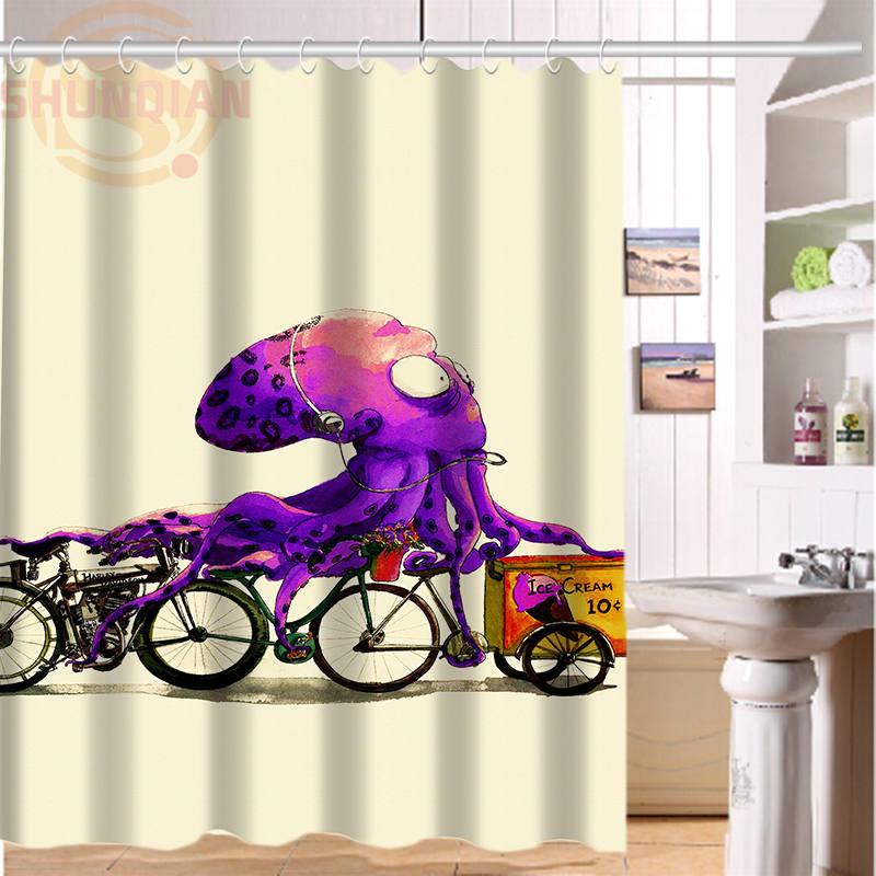 line Get Cheap Octopus Shower Curtain Aliexpress