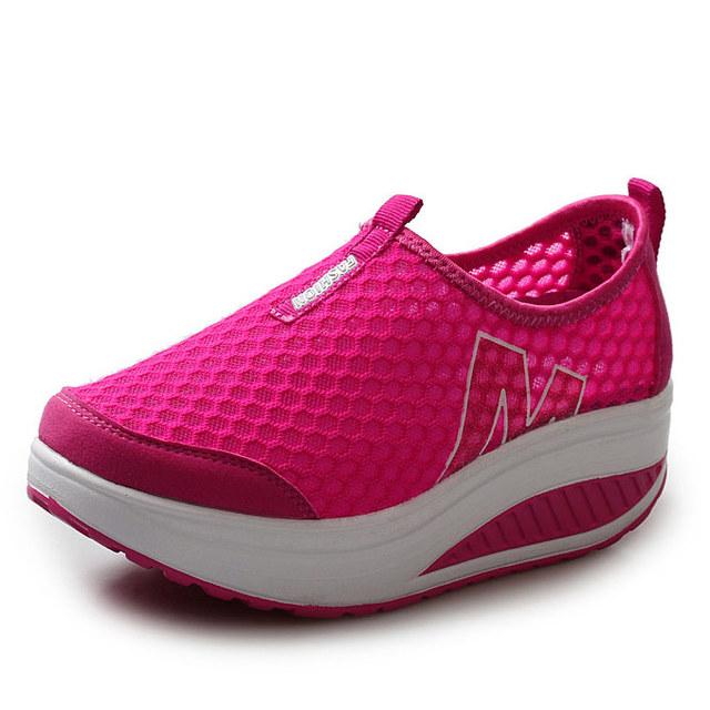 2016 летние женской обуви причинно спорт мода прогулки квартиры высота увеличение ...