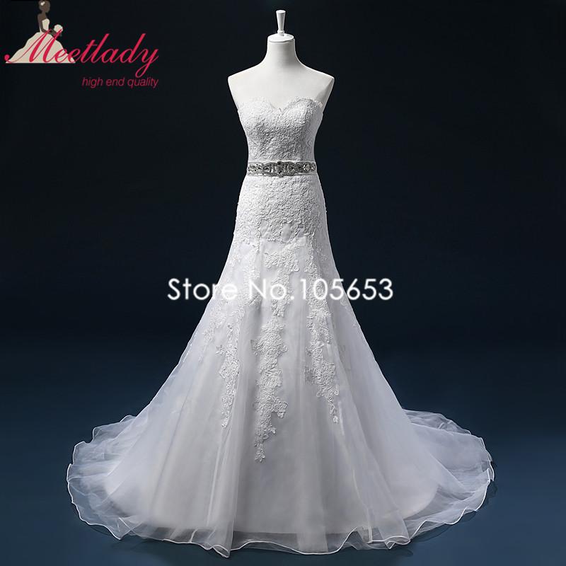 Lace Mermaid Wedding Dress Size 16 : Mermaid long lace wedding dress sexy applique plus size