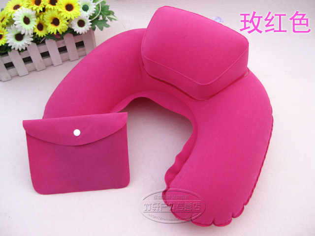 Free shipping Inflatable pillow Multicolor U Neck Pillow,Cervical pillow,Travel Air Flight Pillow,Picture pillow with pump