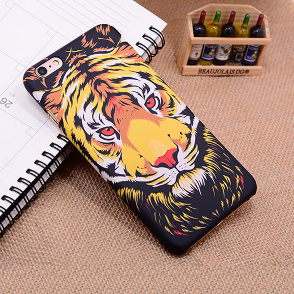 4.7 inch For Apple iphone 6 6s the King of forest fashion Cartoon Animal Drawing Paint tiger TPU silicon Soft Back Cover Case(China (Mainland))