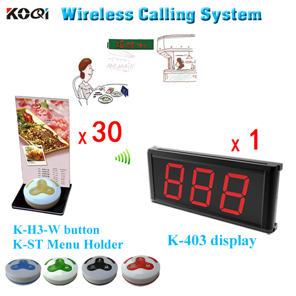 Wireless Restaurant Table Calling Buttons with Menu Holder, Acrylic Material English Call Button(China (Mainland))