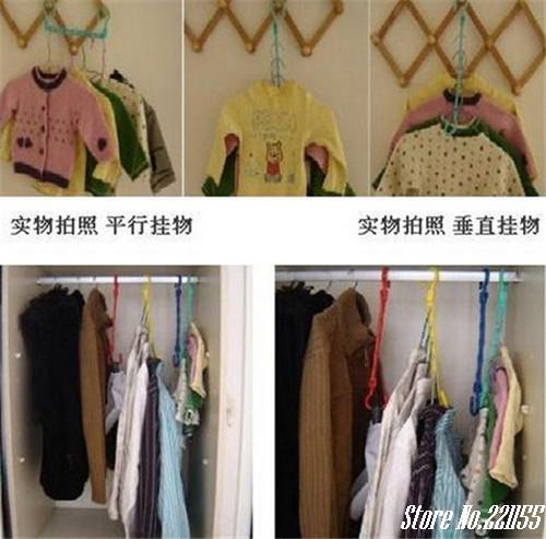 2015 New arrival Portable Space Saver cabide Wonder 5-Hole Magic clothes hanger Hook Closet Organizer free shipping(China (Mainland))