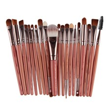 New Brand 20 pcs Professional Makeup Brushes Set For Women Face Lip Eyebrow Shadow Make Up Brush Set Kit(China (Mainland))