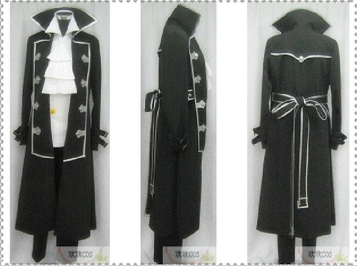 Pandora Hearts Raven Gilbert Nightray Cosplay Costume custom any size Halloween(China (Mainland))