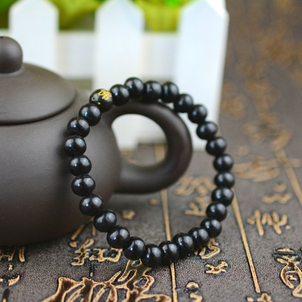 2x/lot black wood beads love couple bracelets bangles wristband jewelry summer gifts(China (Mainland))