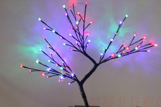 high 45cm Led cherry flower tree led light tree led tree light lantern outdoor lamp decoration lamp(China (Mainland))