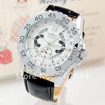 Free shipping Mens Wrist Watch Tachymeter Date Automatic Mechanical freeship cool Xmas gift