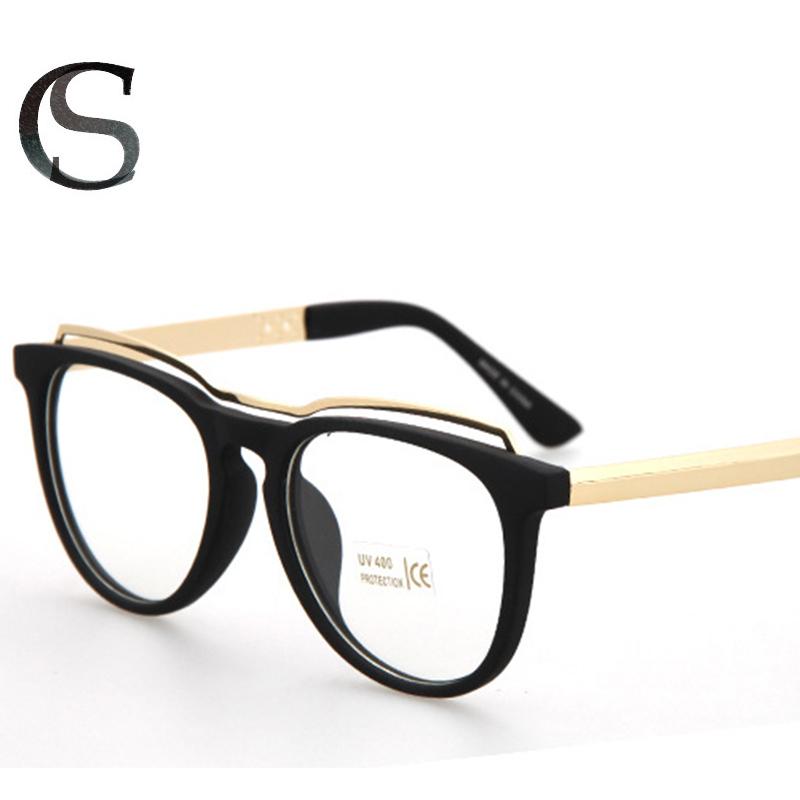 Eyeglass Frame Bars : 2015 women vintage eyeglasses optical frame with a metal ...