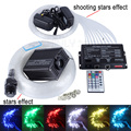 16W RGBW 28key remote LED Fiber Optic Star Ceiling Light Kit mixed 335 strands 4m 0