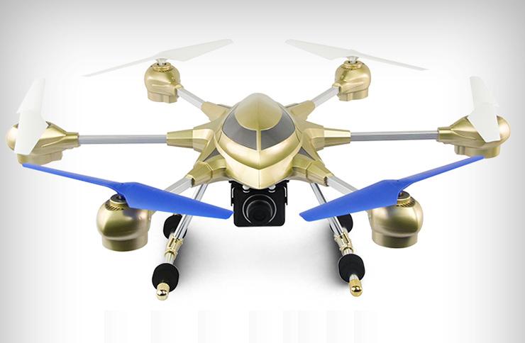 Huajun HJ816 6-axis Gyro Headless Mode One Key Return RC Hexacopter with 0.3MP Camera