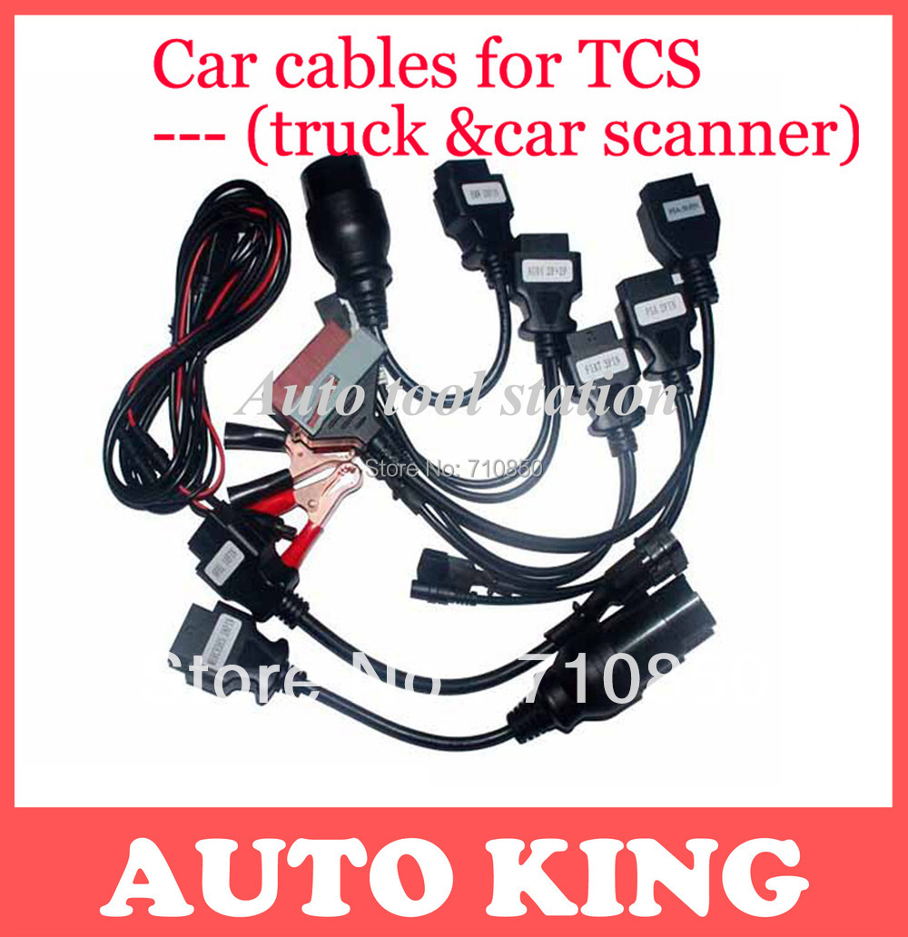 Crazy buy!!! 2015 Hot Selling OBD2 Cable for TCS CDP Pro plus full 8 pcs Car Cables diagnostic Tool Interface + free shipping(China (Mainland))