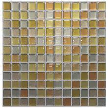 Мозаичная настенная плитка, самоклеящаяся накладка, сделай сам, для кухни, ванной, дома, настенная наклейка, виниловая, 3D(China)