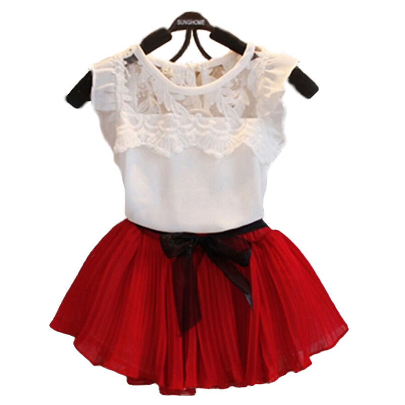 2015 New Girls Princess Elsa Dress + T shirt 2 Pcs Set 2-10 Age Layered Tutu Dress Sets Clothing Sets, Girls fashion lace suits.(China (Mainland))