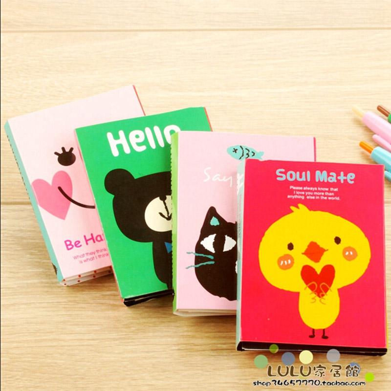12 pcs/lot cartoon animals foldable memo pad post it paper sticker kawaii stationery sticky notes office school supplies<br><br>Aliexpress