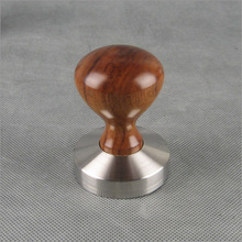 1 PC YF 06 Espresso Coffee Tamper Wooden Handle with stainless stell base 49MM 51MM 53MM