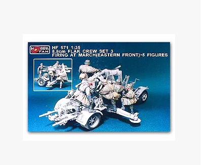 Free Shipping 1/35 Scale Resin Figure WWII German 8.8cm FLAK Crew set 5 figures(China (Mainland))