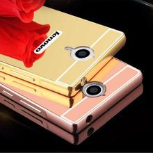 Mirror Case For Lenovo K80m P90 Plating Metal Frame Bumper + Acrylic Protector Cover For Lenovo P90 K80 Mobile Phone Cases Shell