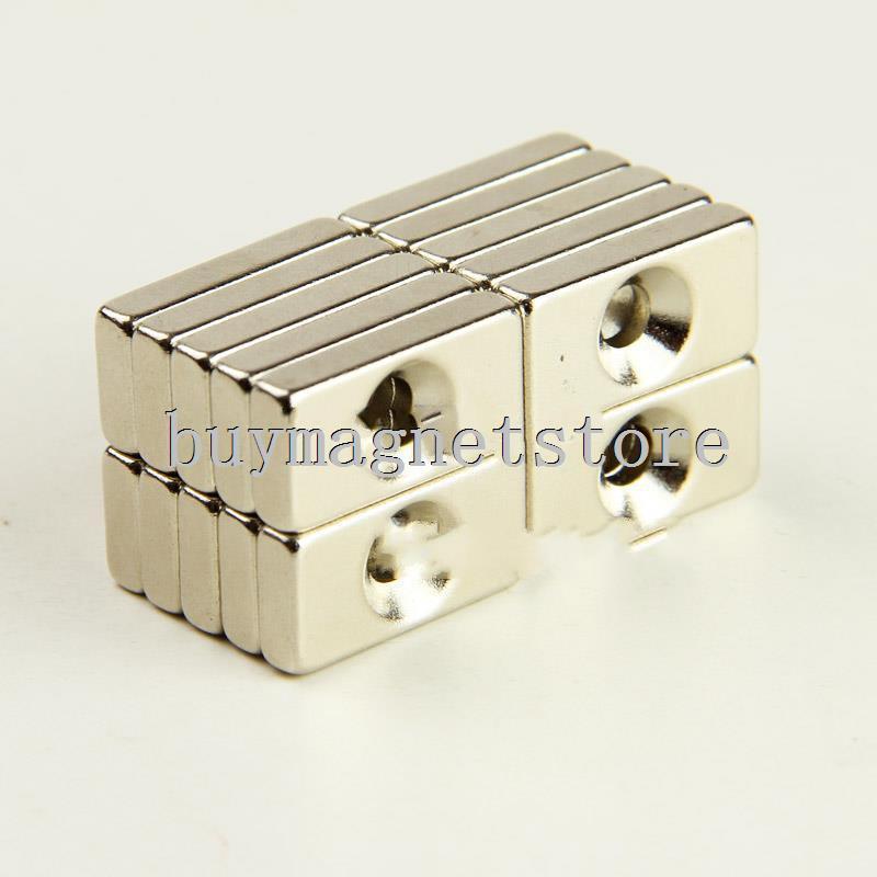 5pcs Neodymium Countersunk Ring Block Strong Magnet 20mm x 10mm x 4mm Hole 4mm n35 ndfeb Neodymium  neodimio imanes<br><br>Aliexpress