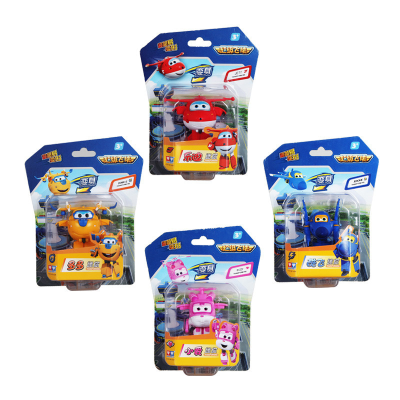 4PCS/Set Super Wings Deformation Mini JET ABS Robot toy Action Figures Super Wing Transformation toys for children gift(China (Mainland))