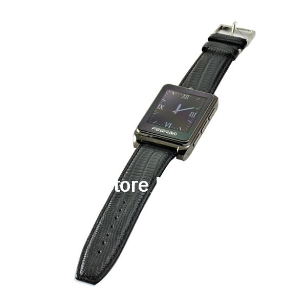 S9110 Quad Band Watch Phone 1.8 Inch Touch Screen Bluetooth Camera with Bluetooth Earphone Brown(China (Mainland))
