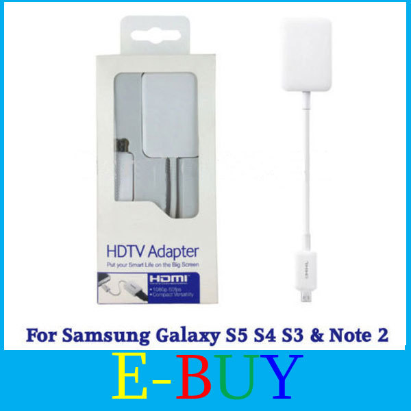 NEW ARRIVE MHL 2.0 1080P Micro USB to HDMI HDTV Adapter for Samsung Galaxy S4 S3 Note 2 3 TAB 3
