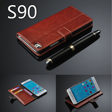 For Lenovo S90 s90t Case Flip Wallet Geniune Leather Case For Lenovo S90 With Stand Function Three Card Holder +Screen Protector