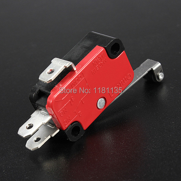 10Pcs lot Microswitch Long Lever AC 250V 15A HV 156 1C25 SPDT Roller Lever Micro Switch