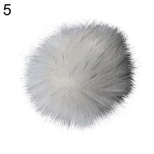 12 centímetros Faux Fur Bola Pompom DIY Tricô Lenços Chapéu Sapatos Chaveiro Acessório hot(China)