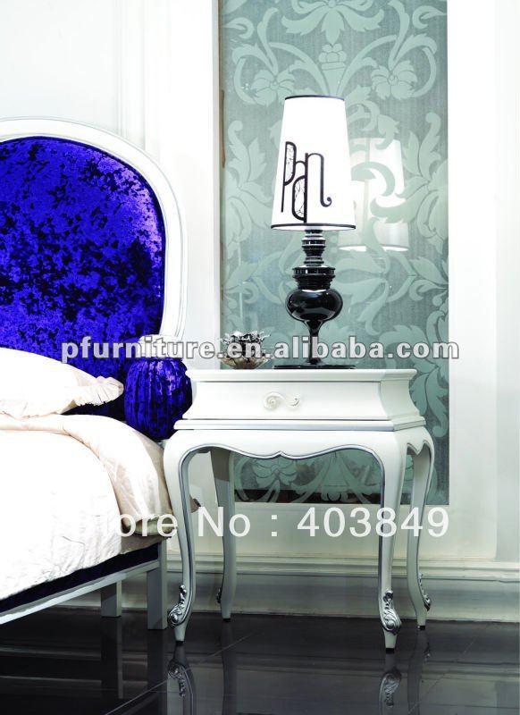 2012 neoclassical glass top nightstands NC120203(China (Mainland))