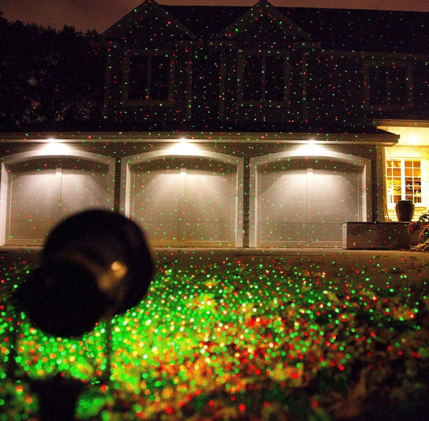 Red and green static waterproof laser light/outdoor garden laser light/elf lights(China (Mainland))