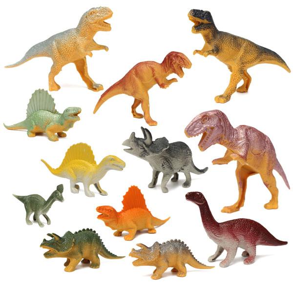 12 Mixed meninos dinossauro brinquedos de natal Playset figuras presente enchimento da meia(China (Mainland))