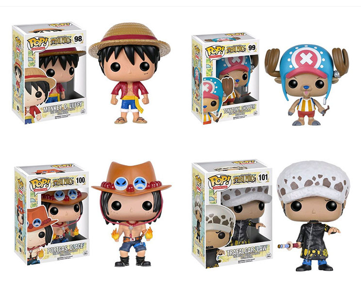 New Hot Funko POP One Piece Luffy Chopper Ace action Figures Lovely Mini Collections Model Toys Gift For Kids Wholesale 12pcs(China (Mainland))
