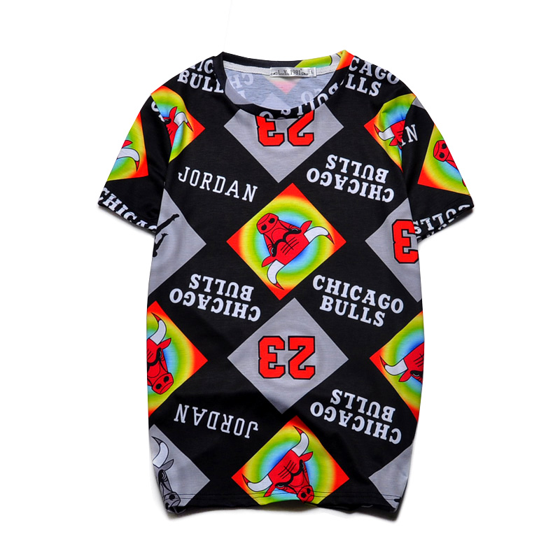 Novelty Short Sleeve 3D T Shirts Basketball Team Sport Designs Tops Cool Causal Tee Tops Clothes For Mens/Womens 2503#(China (Mainland))