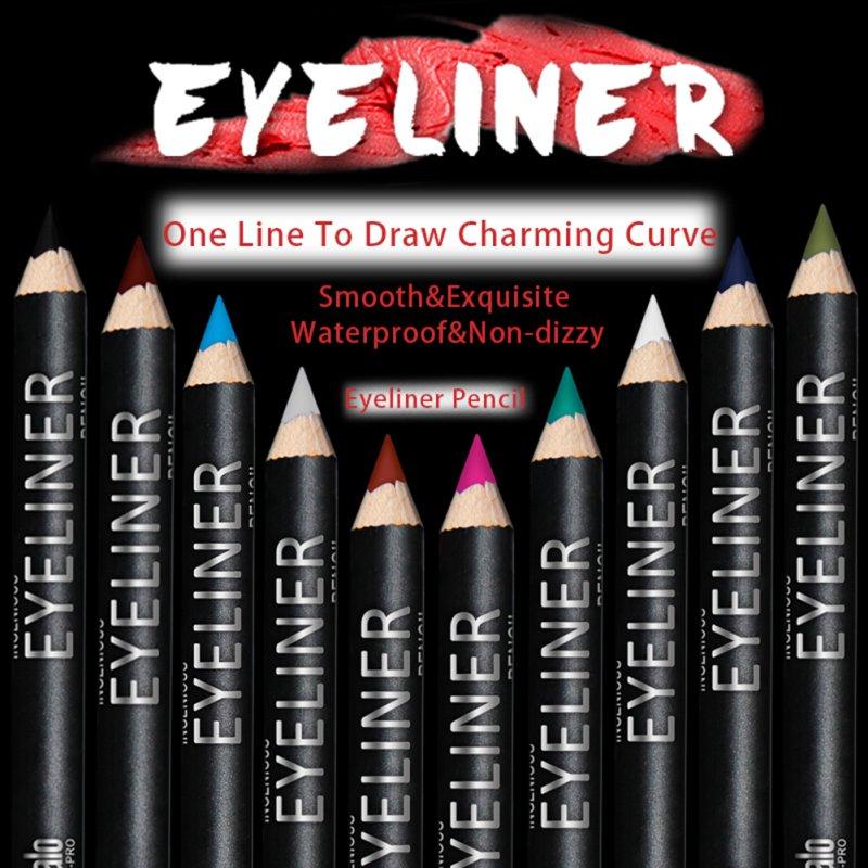 12 Pcs/Set Eye Shadow Waterproof Eyeliner Pen Pencil Makeup Pen Draw Eyebrows Colorful Eyeliner Retail Box a12 YO V2