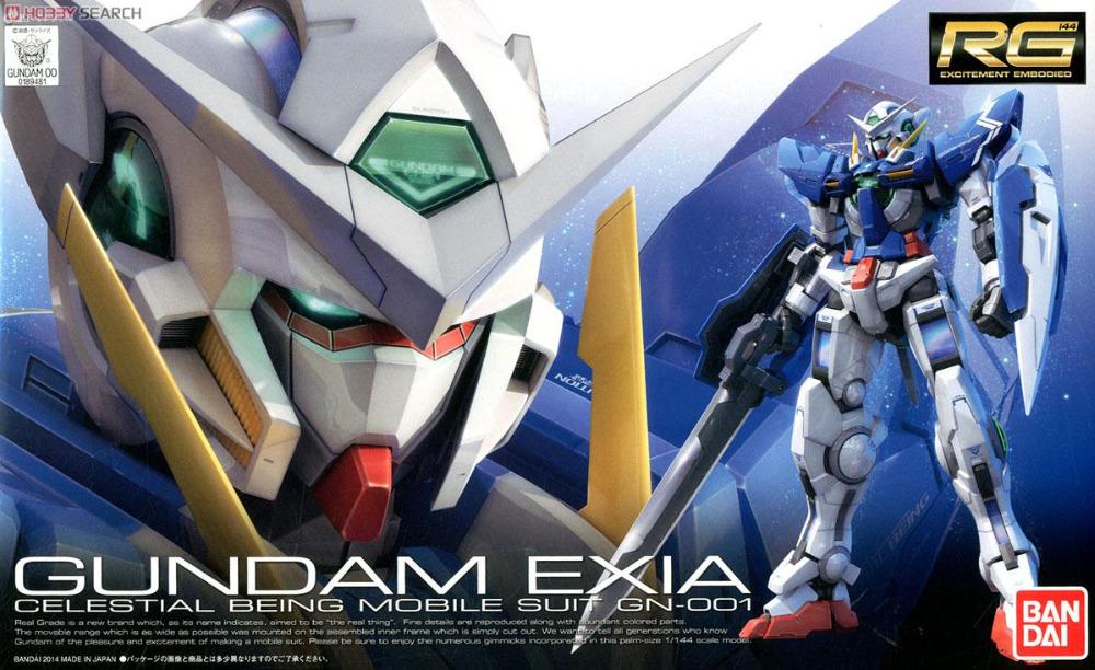 100 Genuine bandai model Free shipping RG 15 1 144 font b Gundam b font Exia