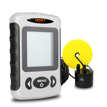 Free Shipping! LUCKY FF718 Russian Menu Top Quality Fish Finder Portable Sonar Wired Fish depth Finder Alarm 100M Fishing Tackle(China (Mainland))